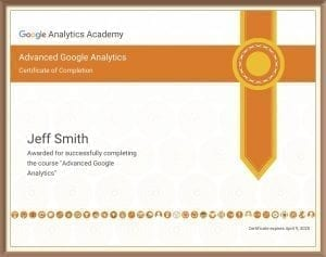 Advanced Google Analytics Certification