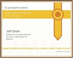 Beginner Google Analytics Certificate