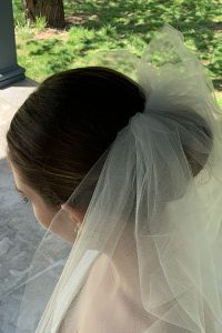 woman in wedding veil