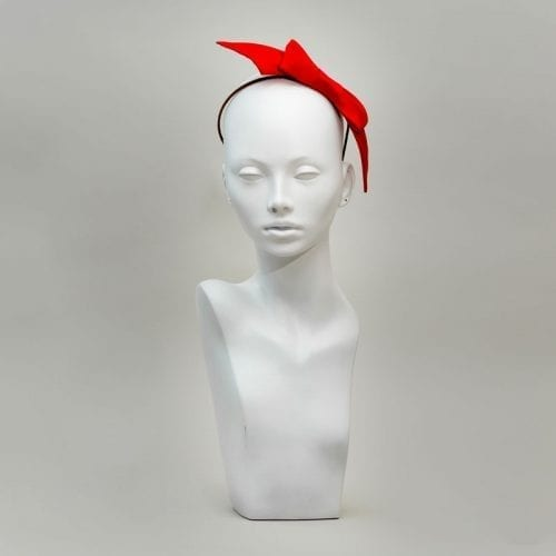 red silk headband